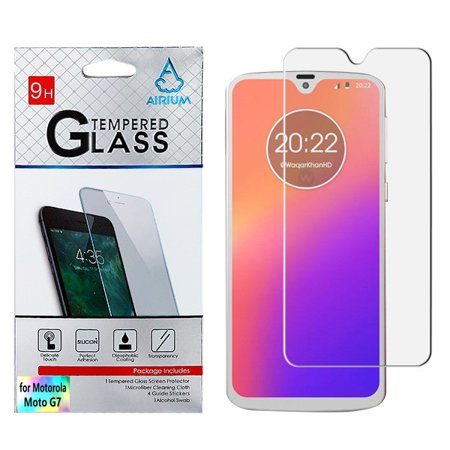 Motorola Moto G7 Screen Protector Shockproof Tempered Glass LCD Screen Protector Crystal CLEAR 9H 2.5D HD Guard Screen Protector Cover for Motorola MOTO G7