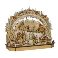 "18"" LED Lighted Christmas Themed Village House Tabletop Decor"