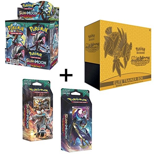 Pokemon Sun & Moon Guardians Rising: Booster Box, Elite Trainer, and Both Theme Decks!