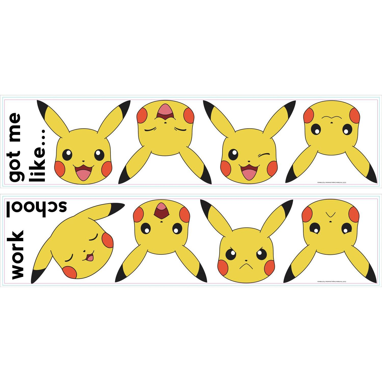 Happy Pikachu Electric Type Vinyl Sticker