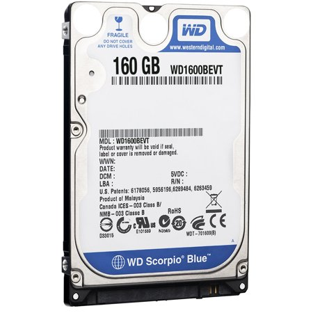 Western Digital WD1600BEVT 160 GB 5400RPM SATA 8 MB 2.5-Inch Notebook Hard Drive 160 Gb Disk Notebook