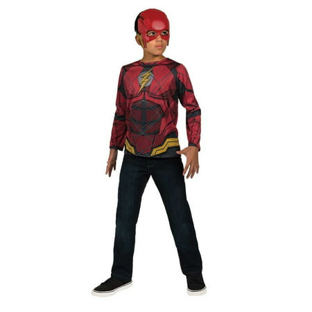Justice League Boys Flash DC Superhero Childs Costume Top Shirt](Kid Flash Costumes)
