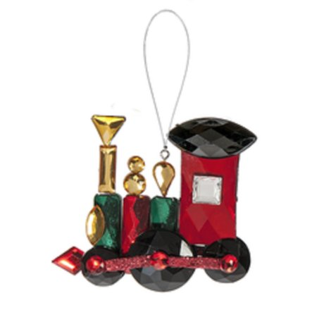 Crystal Expressions Classic Holiday Ornament: Toy Train - By Ganz