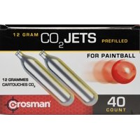 Crosman 12 gram Powerlet CC40PB CO8 40 Count CO2 Paintball