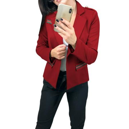 Fashion Women OL Work Ladies Long Sleeve Slim Business Casual Blazer Suit Jacket Coat Outwear (Womens Washable Business Suits)