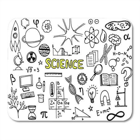 KDAGR Cartoon Microscope Science Doodle Study Atom Biology