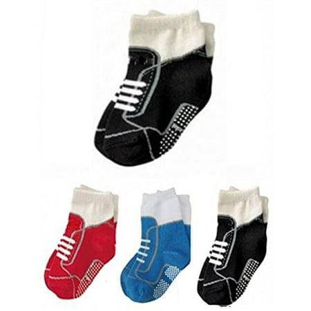 Prince Baby Socks - StylesILove Non Slip Shoes Print Cotton Socks for Baby Boy 3 Pairs (1-3 Years)