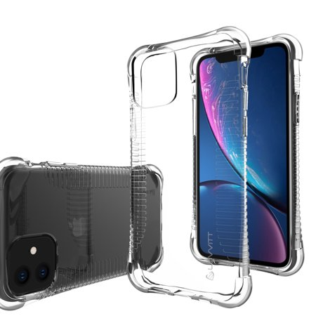 Luvvitt Clear Grip Case Designed for iPhone 11 with Shockproof Drop Protection Slim Soft Hybrid TPU Gel Bumper Scratch Resistant Silicone Cover for Apple iPhone 11 XI 6.1 inch 2019 - Crystal (Best Iphone Malware Protection 2019)