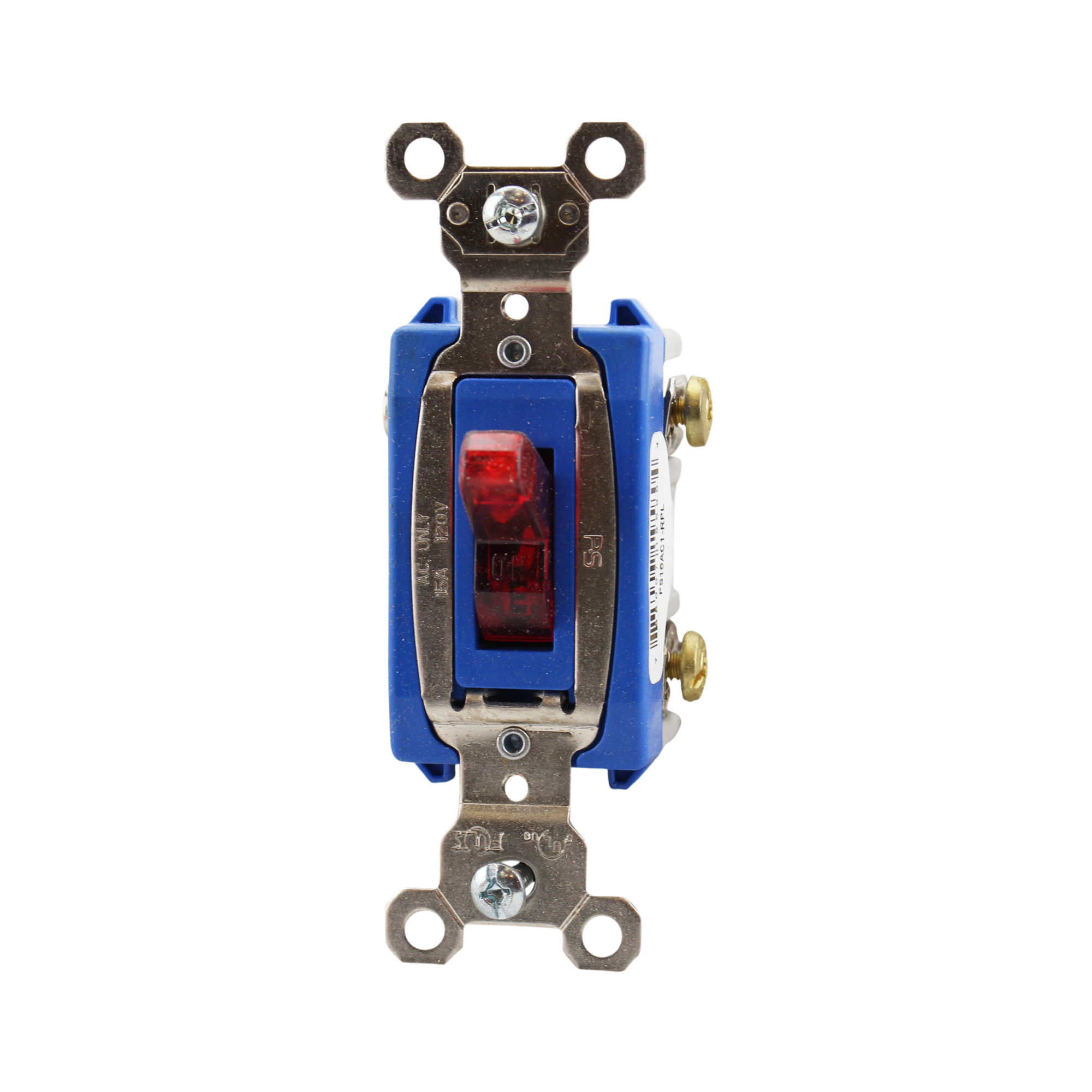 Pass & Seymour PS15AC1-RPL Extra Heavy-Duty Specification Grade Switch Back & Side Wire, Red
