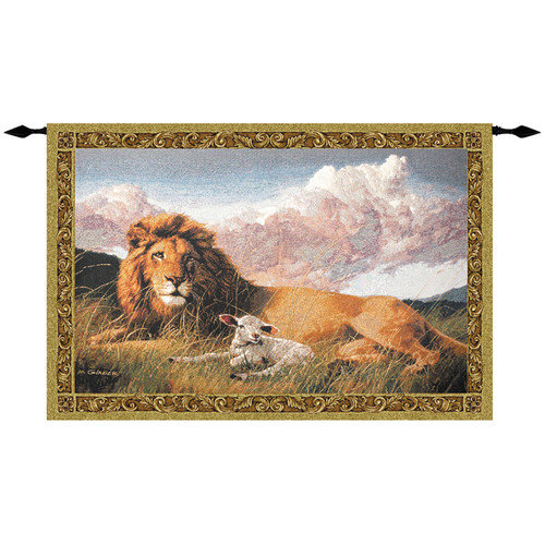 Manual Woodworkers & Weavers Lion and Lamb Tapestry