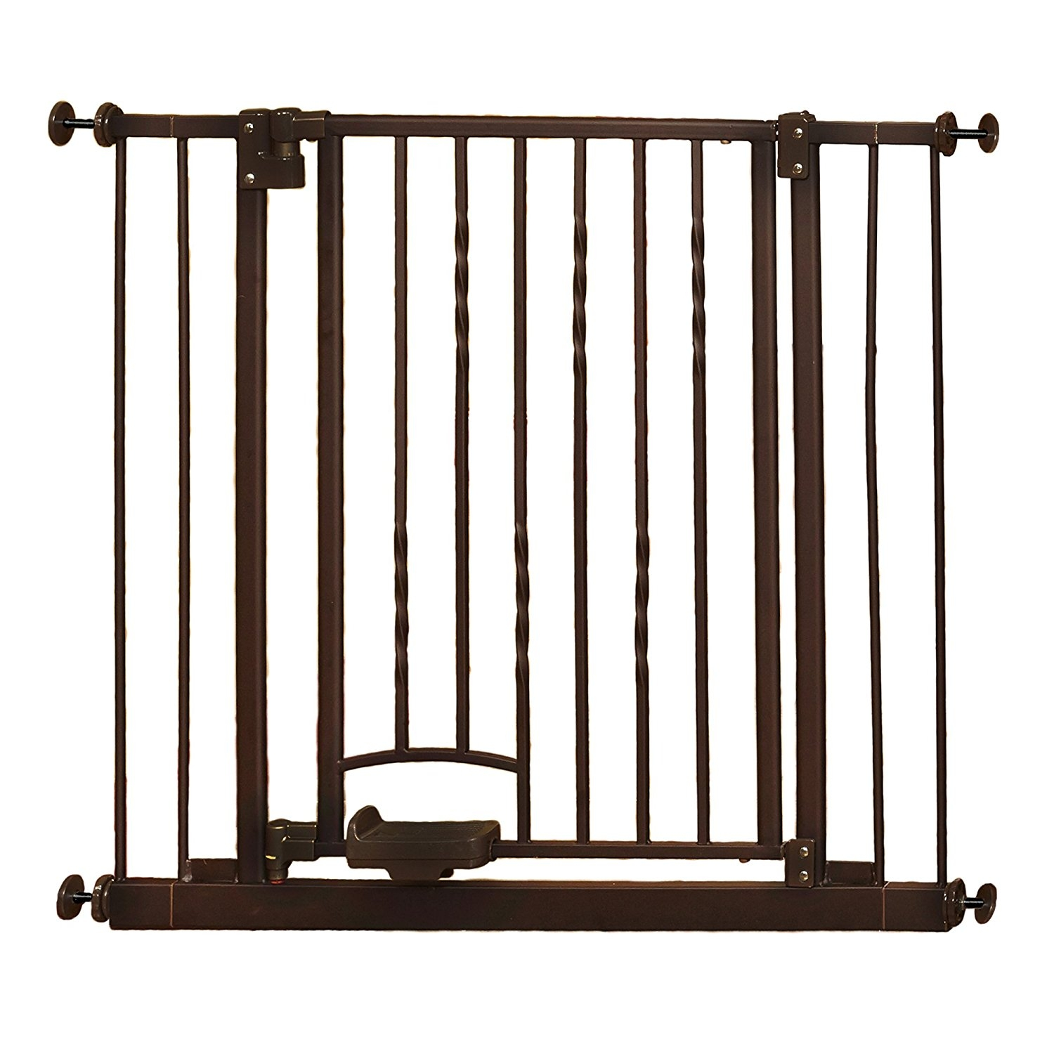 "North States Industries Supergate Step n Go Gate, Bronze, Fits Spaces between 31.25"" to 38.25"" Wide and 30""high"