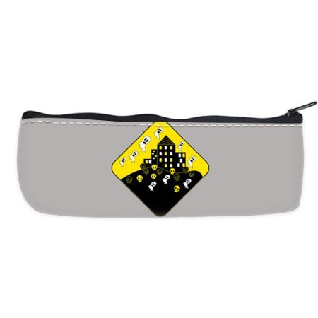 POPCreation Halloween Road Signs School Pencil Case Pencil Bag Zipper Organizer Bag](Halloween Penis)