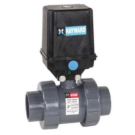 HAYWARD Electronic Ball Valve,PVC,1/2 In.