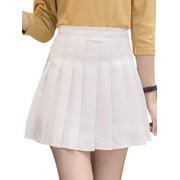 Women Fashion Summer A-line zipper High Waist pleated skirt Wind Cosplay skirt kawaii Female Short Mini Skirts