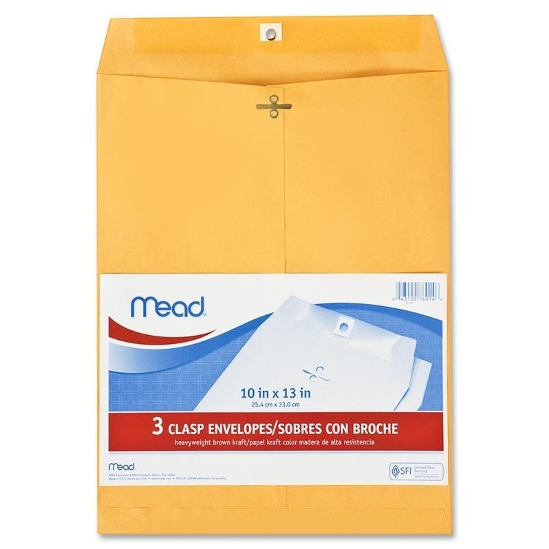 Mead Heavyweight Clasp Envelopes (Set of 3)