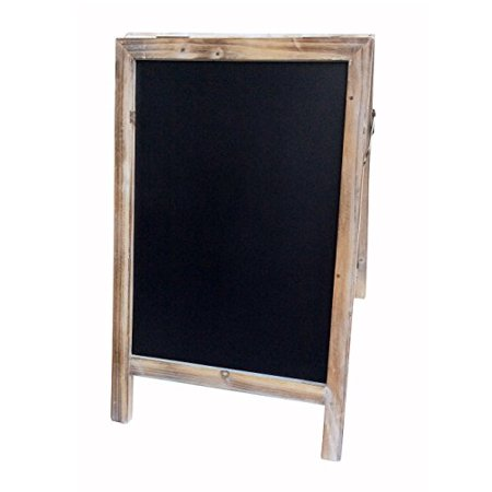 Cheung's FP-4290 Rattan Imports Double Sided Wood Frame Chalkboard, Large](Chalkboard Frames)