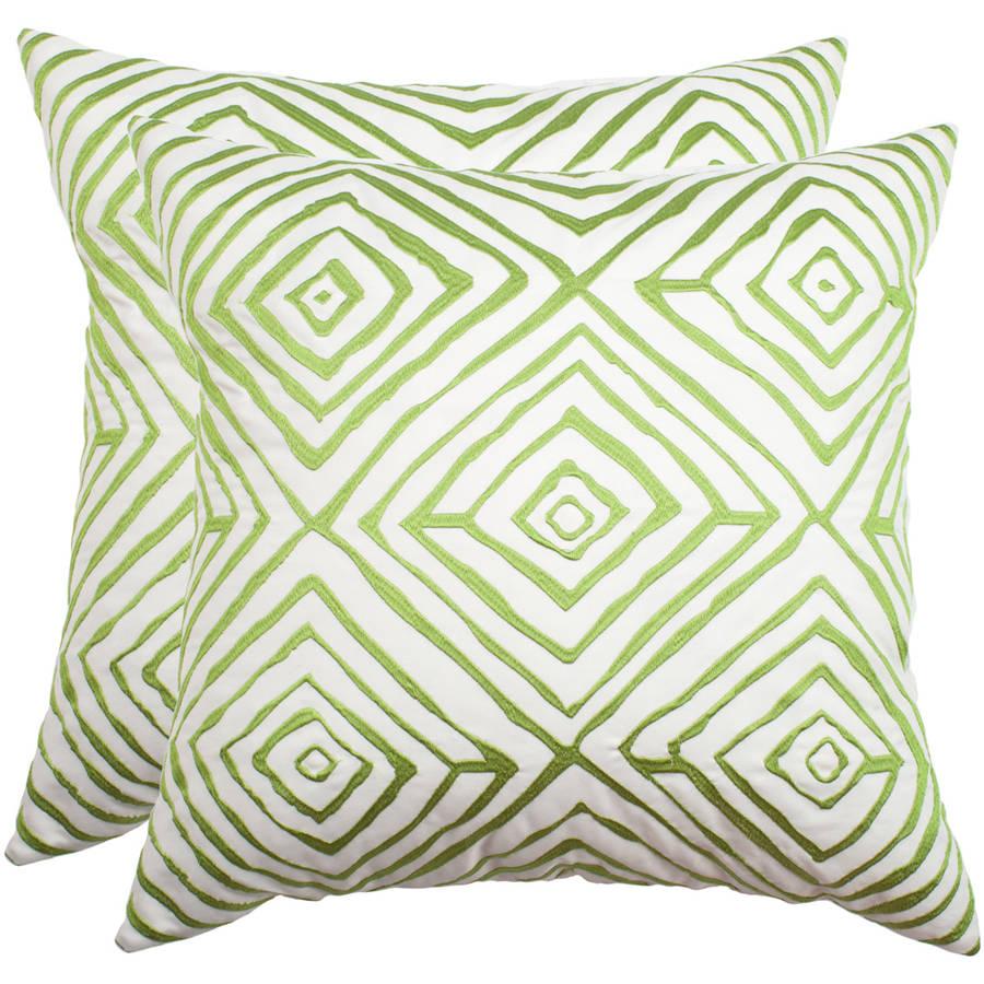 """Safavieh Diamonds Five Soleil 20"""" x 20"""" Indoor/Outdoor Pillow, Multiple Colors, Set of 2"""