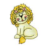 Expo Int'l BaZooples Iron-on Patch Applique Lester (Lion Felt)