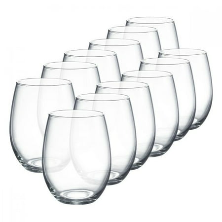 Luminarc 15 Ounce Stemless Wine Glasses Boxed Set, 12 (Dollar Glasses Amazon)