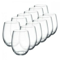 Luminarc 15 Ounce Stemless Wine Glasses Boxed Set, 12 Count