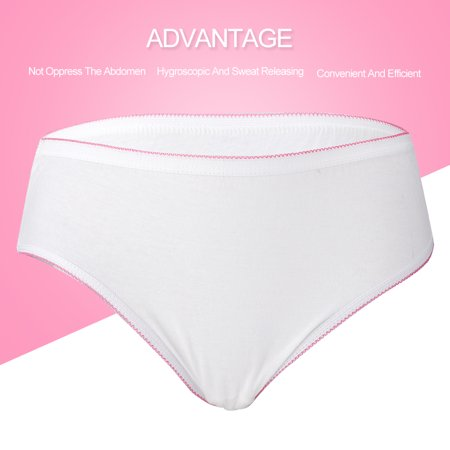 ab2328820daa7 Hilitand - 4 Pcs Disposable Breathable Cotton Maternity Underwear  Adjustable Elastic Pregnancy Panties, Pregnancy Panties, Disposable  Maternity Underwear ...
