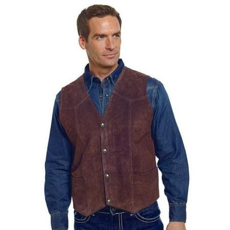 Cripple Creek Outerwear Vest Mens Suede Leather Button Front ML3061
