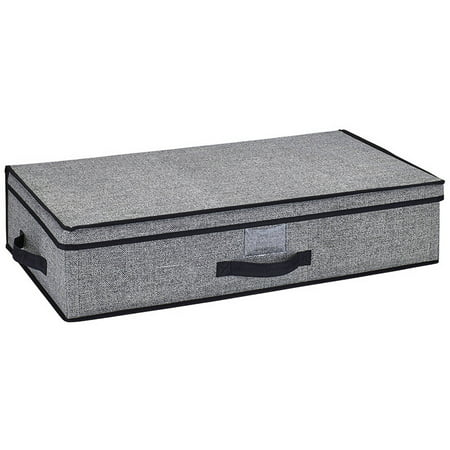 Simplify Under-the-Bed Storage Box, Black ()