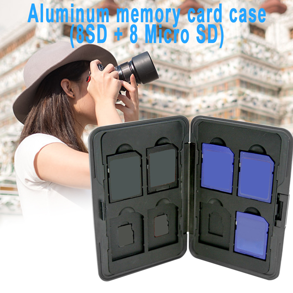 Memory Card Storage Box Case Holder with 8 Slots for SD SDHC MMC Micro Cards