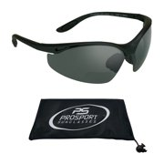 proSPORT Bifocal Safety Reading Sunglasses Grey Tinted ANSI Z87 Lens for Men and Women Reader Magnification +1.00