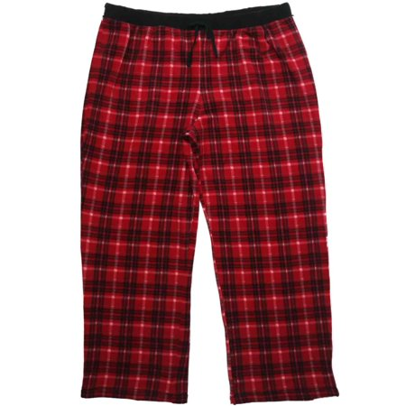 Womens Black Red   White Plaid Checker Fleece Sleep Pants Pajama Bottoms 3X  - Walmart.com 434f1df67
