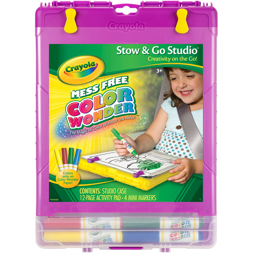 Crayola Color Wonder Stow & Go Studio, Includes Mess Free Markers and Activity Book for Portable Fun