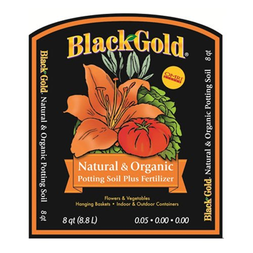 1302040 8-Quart All Organic Potting Soil, The all purpose organic potting soil that fits all your needs; convenience, quality tested organic ingredients and a.., By Black Gold