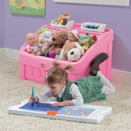Step2 2-in-1 Art Toy Box, Pink - Walmart.com