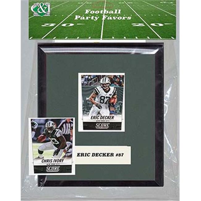 Candlcollectables 67LBNYJETS NFL New York Jets Party Favor With 6 x 7 Mat and Frame