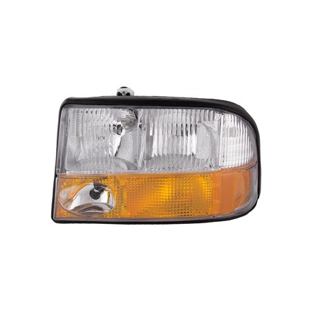1998-2004 GMC Sonoma/Oldsmobile Bravada/1998-2001 GMC Jimmy Driver Side Halogen Headlight w/ Fog Headlamp Assembly GM2502173