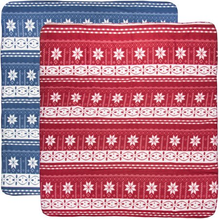 (2 Pack) Soft Throw Blanket Set: Red And Blue Fleece Blanket 50x60 For Pet Blanket, Kid Blanket, Travel, Home Decor, Christmas Decorations Blue Jean Teddy Blankets