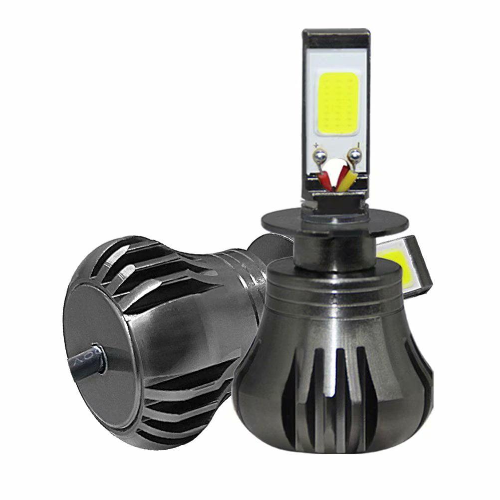 2Pcs H3 LED Lamp Headlight Driving Fog Light Bulb for Car, White