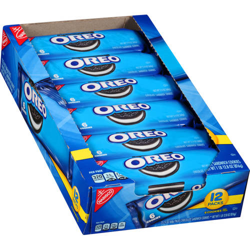 Nabisco Oreo 12 pack tray, 6 count
