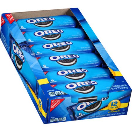 (2 Pack) Nabisco Oreo 12 pack tray, 6 count (Oreo Cookie Recipes Halloween)