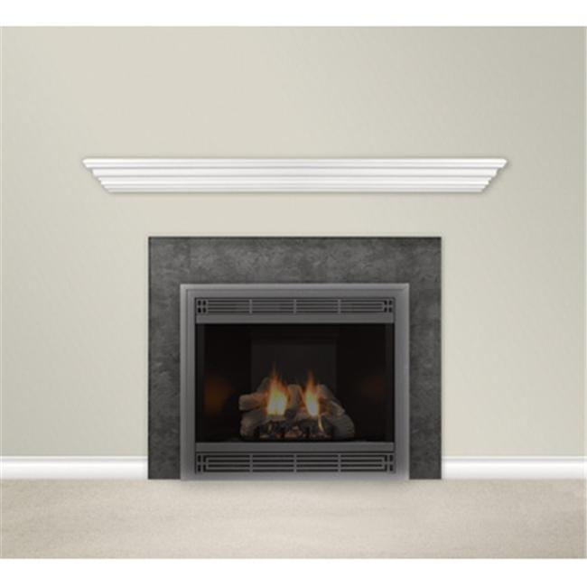 Empire Comfort Systems HWMS60W Housewarmer 60 in. Finished White Mantel Shelf With Classic Styling