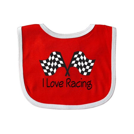 I Love Racing Baby Bib (Racing Bits)
