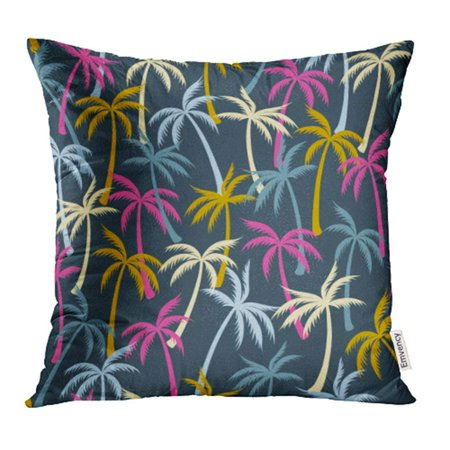 ARHOME Coconut Palm Tree Pattern Tropical Forest Greenery Simple Plants Trees Beach Design Pillowcase Cushion Cases 18x18 inch ()