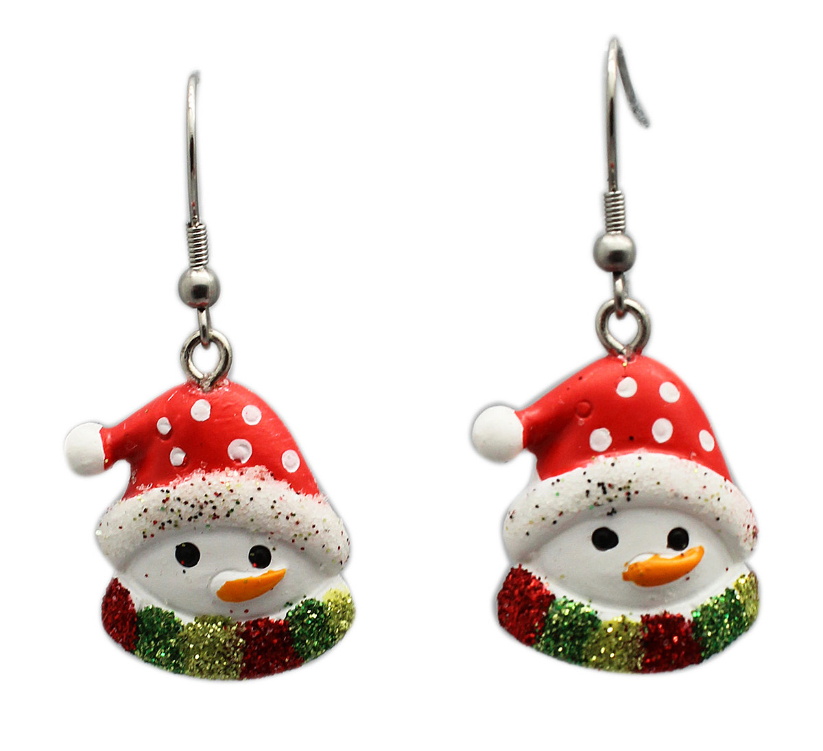 Lump of Coal Box With Santa Hat Snowman Earrings Inside - By Ganz