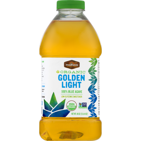 (Madhava Organic Golden Light 100% Blue Agave 46 oz. Bottle)