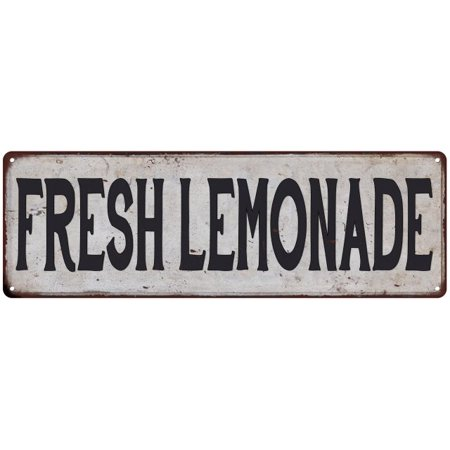 FRESH LEMONADE Vintage Look Rustic 8x24 Metal Sign Chic Retro 108240035147