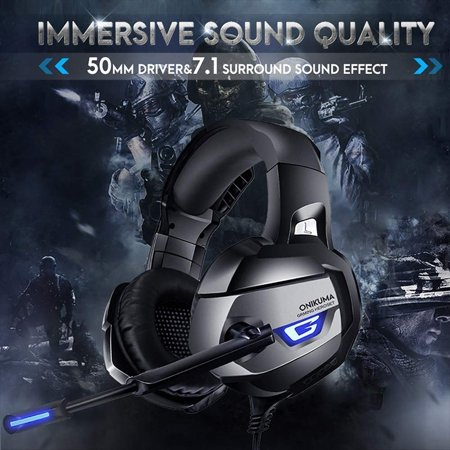 ONIKUMA K5 Best Gaming Headset Gamer casque Deep Bass Gaming Headphones for Computer PC PS4 Laptop Notebook with Microphone
