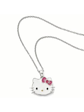 b199951b3 Product Image Sterling Silver Enamel Pink Bow Collection Necklace. Product  TitleHello KittySterling ...