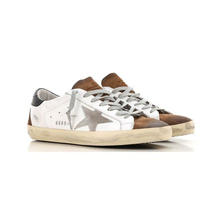 Golden Goose Superstar Sneakers in Leather with Suede Insert (8US) Leather Star Creeper Shoe