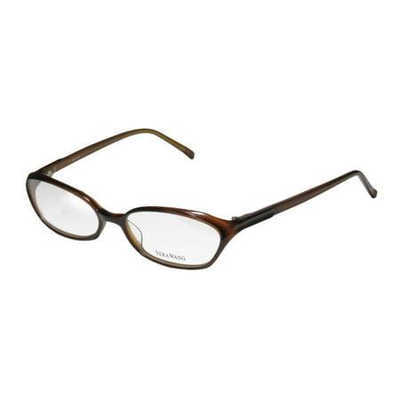 Acetate Temples Frame - New Vera Wang V102 Womens/Ladies Designer Full-Rim Brown Plastic Temples Durable Trendy Frame Demo Lenses 53-16-138 Eyeglasses/Eyewear
