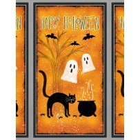 Clearance Sale~Spooky Vibes Halloween Panel 23'' x 44'' Cotton Fabric by Wilmington Prints](Hobby Lobby Halloween Fabric)